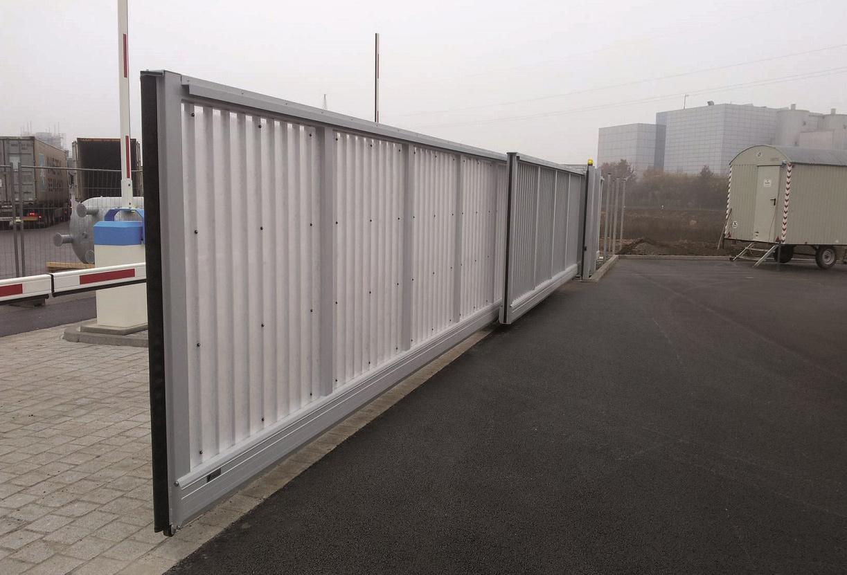 Откатные металлические телескопические ворота ворота hi tech